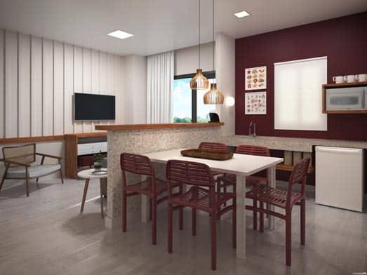 Apartamento Brisa - Sala e Copa - Livyd Angra dos Reis
