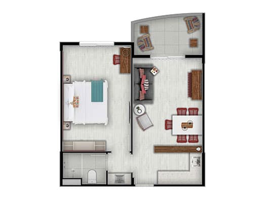 Apartamento Coral - Planta - Livyd Angra dos Reis