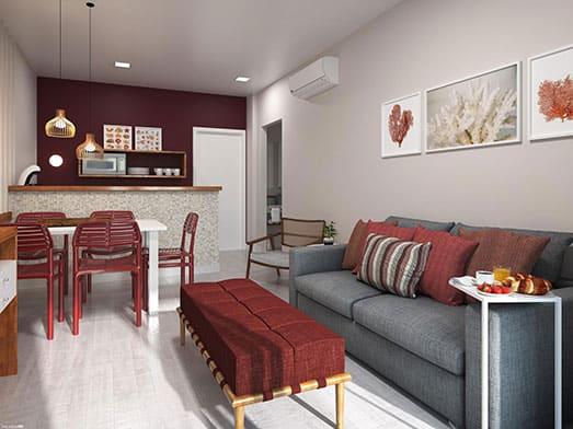 Apartamento Coral - Sala e Copa - Livyd Angra dos Reis