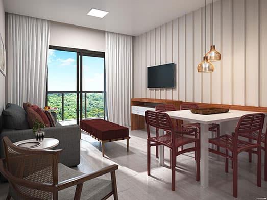 Apartamento Coral - Sala - Livyd Angra dos Reis