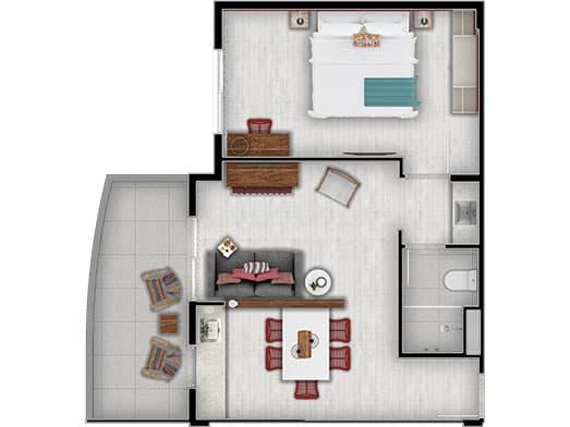 Apartamento Cristal - Planta - Livyd Angra dos Reis