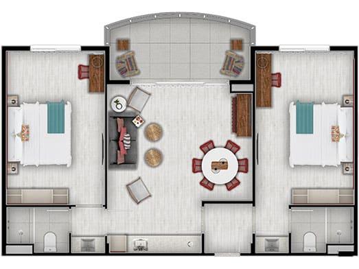 Apartamento Pérola - Planta - Livyd Angra dos Reis