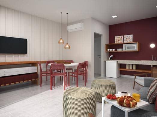 Apartamento Pérola - Sala e Copa - Livyd Angra dos Reis